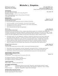Accounts Payable Resume Objective Accounts Receivable Resume Sample Accounting Resume Objective