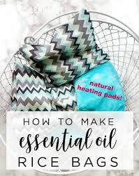 diy aromatherapy rice bags natural heating pads