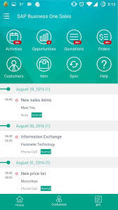 App Sales Sap Business One Sales App For Android And Ios In Depth Feature List