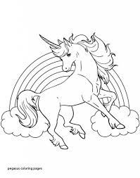 Pegasus Coloring Pages Elegant 24 Unicorn With Wings Coloring Pages