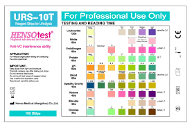 Color Chart Urine Test Strips Reagent Strip For Urinalysis Urs 10t