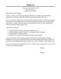 Cover Letter Data Entry