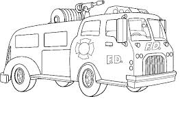 Fire Truck Coloring Page For Toddlers Pages Construction Fi