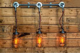 diy cable lighting. Steel Conduit And Hanging Mason Jars Wall Or Ceiling Light Diy Cable Lighting E