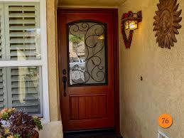 front door. Mediterranean Style Single 36x80 Fiberglass Front Entry Door. Therma-Tru CCR20537. Rustic Wood Door