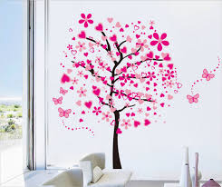 beautiful pink butterfly flower tree painting wall art on beautiful wall art pictures with 31 amazing 3d wall art ideas that you would want to take home