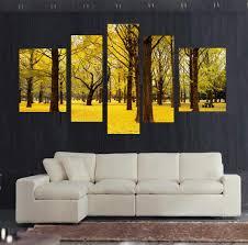 wall art designs yellow wall art autumn scenery yellow