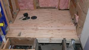 shower pan suloor created with 3 4 flooring plywood