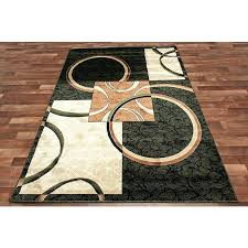 unique circle area rugs or circle square modern area rug black green two tone brown beige