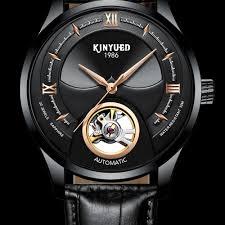 <b>KINYUED</b> Black Skull Watch <b>Automatic Men</b> Skeleton <b>Mechanical</b> ...