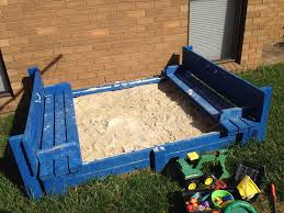 picture of sandpit with integrated bench seats