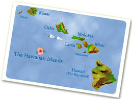 Image result for hawaiian island map images