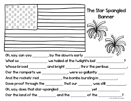 Small Picture Star Spangled Banner Coloring PageCloze Activity from Light Bulbs