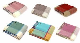 windowpane check wool blanket sofa bed