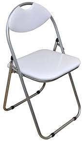 harbour housewares white padded folding desk chair