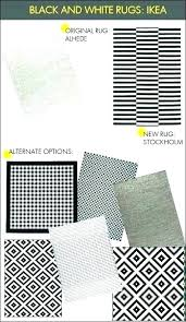 black and white striped rug area fluffy bathroom ikea stri