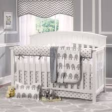gray elephant crib bedding