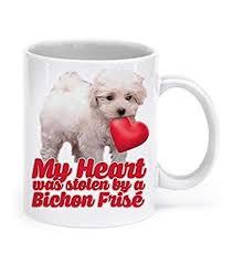 bichon frise mug bichon frise gifts my heart was stolen by a bichon frise