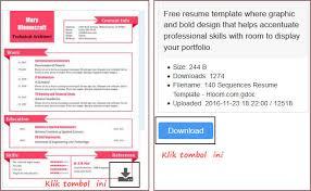 Download 400 Template Resume Cv Microsoft Word Computer