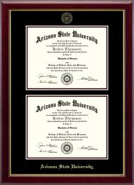 arizona state university double document diploma frame in gallery  arizona state university double document diploma frame in gallery item 238958 from sun devil campus store