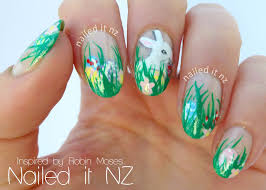 Easter nail art - inspired by Robin Moses!