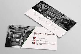 Elegant Serious Architect Business Card Design For Studio One