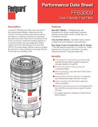 Fleetguard Ff63009 Cummins 5303743 Fuel Filter W Nanonet Hi Performance Filtration For Cummins B L Series Engine 2x Contaminant Holding Cap Best