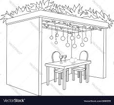Small Picture Sukkah For Sukkot With Table Coloring Page Vector Image