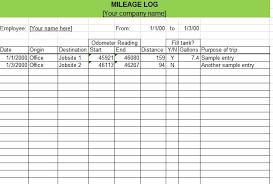 Mileage Template Excel Microsoft Excel Mileage Log Template Zromtk