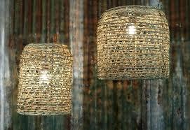 wicker lamp shade large rattan lampshade pendant hand woven