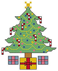Christmas Tree Cross Stitch Chart Christmas Tree Cross Stitch Design Chart Perfect For The