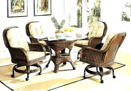 leather dining chairs with casters. Rolling Dining Chairs Wonderful Wheeled Chair Best Leather With Casters Room Sets . C