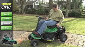 weed eater lawn tractor. weed eater one: operation lawn tractor t