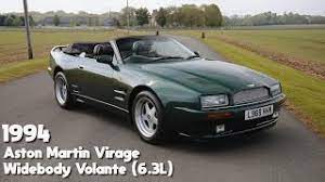 1994 Aston Martin Virage Widebody Volante 6 3 Litre Youtube