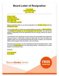 Letter Of Resignation Sample Board Resignation Letter Sample 8