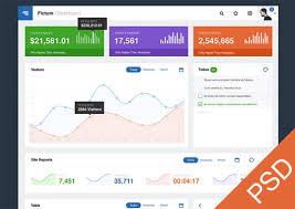 20 Free Dashboard Ui Mockups Graphs Diagrams Charts And