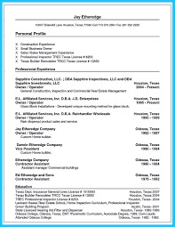 Small Business Owner Operator Resume Resume Template 2018