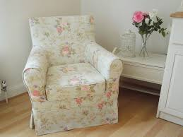 armchair reupholstered in new fabric