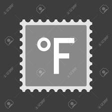 Farenheith 度記号で分離メール スタンプ アイコンのイラスト