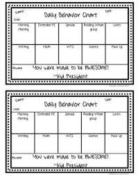 Daily Behavior Chart Template For Kindergarten Free Printable Daily Behavior Chart For Teachers Free