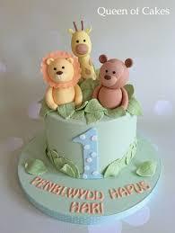Pastel Jungle Baby Boy 1st Birthday Cake Cake Art In 2019 Boys