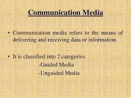 Communication Media Communication Media