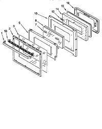 looking for kitchenaid model kgbs276xbl0 gas range repair kitchenaid kgbs276xbl0 oven door diagram