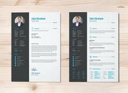 create a modern resume template with word inspirational free modern resume template word for different