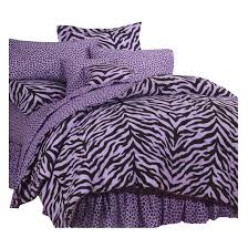 purple and black twin xl zebra print bed in a bag