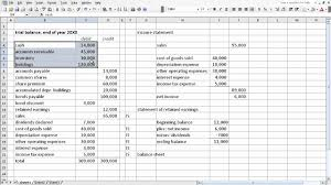 Trail Balance Sheet Exercise from trial balance to financial statements YouTube 1