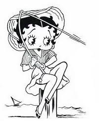 Kleurplaat Betty Boop 3