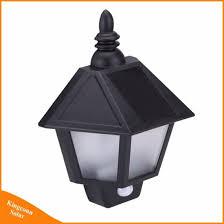 led solar wall lamp outdoor motion sensor light for door deck security night lighting