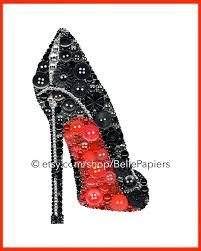 shoes wall art fashion wall art on art print shoe sti high heel red bottom shoe black shoe on and ballerina shoes wall art