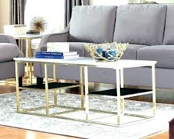 marble and glass coffee table silver gold metal end